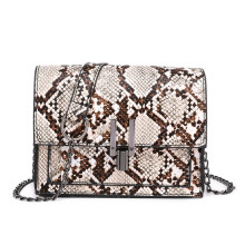 63df8650a Fashion Women Snake Skin Leather Handbag Hot Sale Female Chain Shoulder Bags  Mini Ladies Travel Small