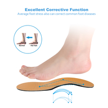 Orthopedic Insoles for Flat Foot Arch Support Shoes Pad Correct O X Leg Valgus Varus Shoe Palmilha Insole