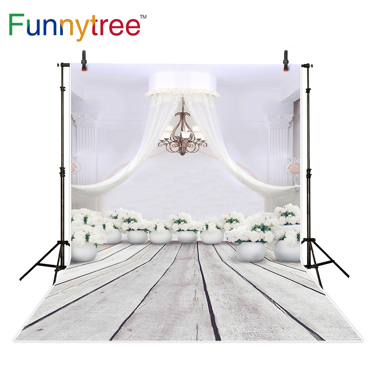 Funnytree photography backdrop white wedding flower elegant vintage wood floor background photo studio photocall 5x7ft white backdrop board photo background photography white studio cloth flower rattan corridor