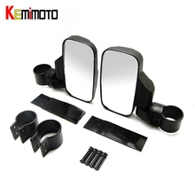 "KEMiMOTO 2 ""/1.75"" Break-Away Almohadilla De Goma espejo Retrovisor Espejos Laterales para Polaris RZR Guardabosques para Bobcat De Can-Am para Arctit gato"