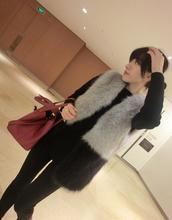 2019 New Fashion Faux Fur Coat Winter Women Waist Gilet Womens Jacket Vest For Ladies