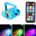 Min Remote wave projection 3W  RGB LED Water Wave Ripple Effect Stage Light Lamp Music Auto Party DJ Laser Projector AC85-265V