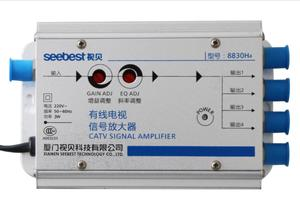 Image 1 - AC 220V 1 In 4 Out CATV Amplifier 30db Adjustable Cable TV Antenna Signal Amplifier 45MHz to 860MHz 2W