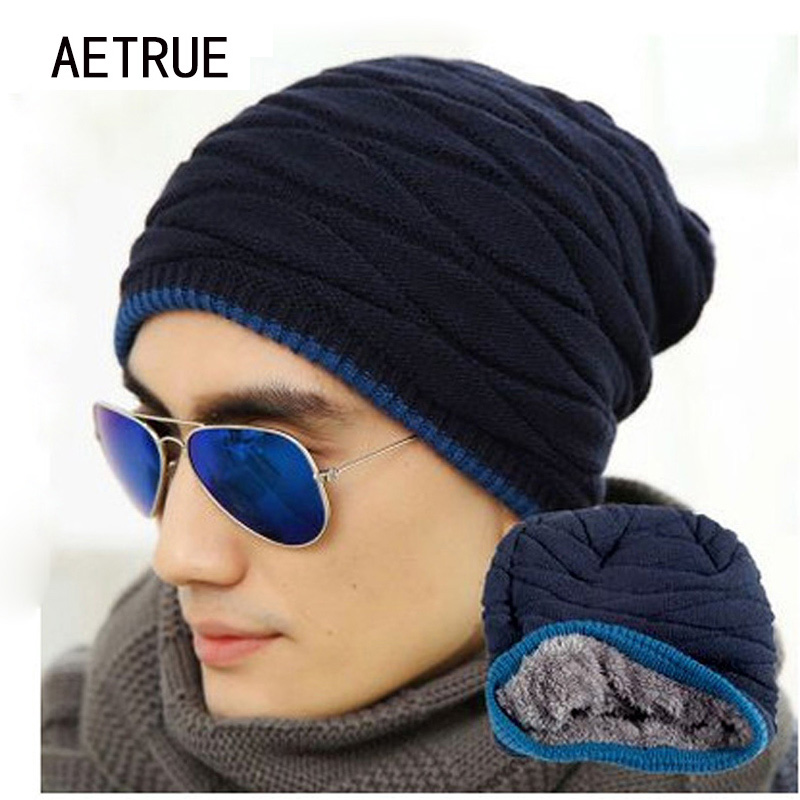 Winter Beanies Women Winter Hats For Men Women Knitted Hat Caps Gorros Fleece Warm Thicken Wool Bonnet Flat Skullies Touca Hats brand winter beanies men knitted hat winter hats for men warm bonnet skullies caps skull mask wool gorros beanie 2017