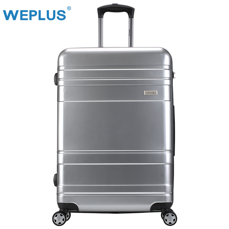 "28"" inch siver 28"" Vintage Rolling hardside luggage travel suitcase  wheels handles Custom laser engraving  Women men spinner"