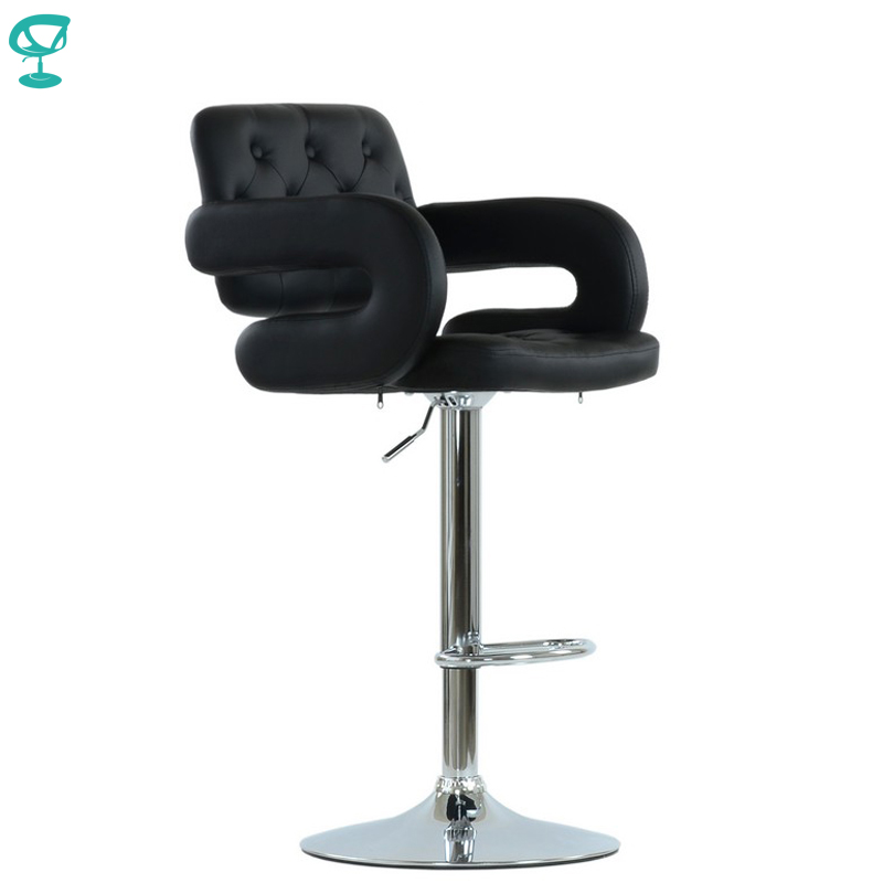 94535 Barneo N-135 Leather Kitchen Breakfast Bar Stool Swivel Bar Chair Black Color Free Shipping In Russia