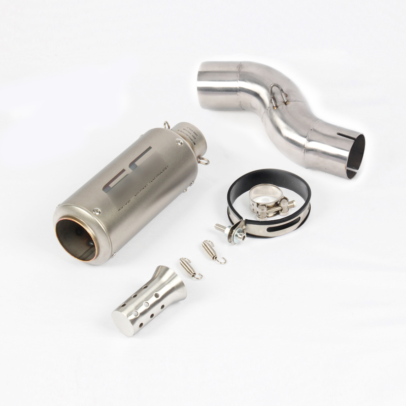 Motorcycle R6 Exhaust Tip Tail Muffler Silencer Escape Link Mid Middle Tube Connect Pipe for Yamaha YZF R6 2017 2018 2019 in Exhaust Exhaust Systems from Automobiles Motorcycles