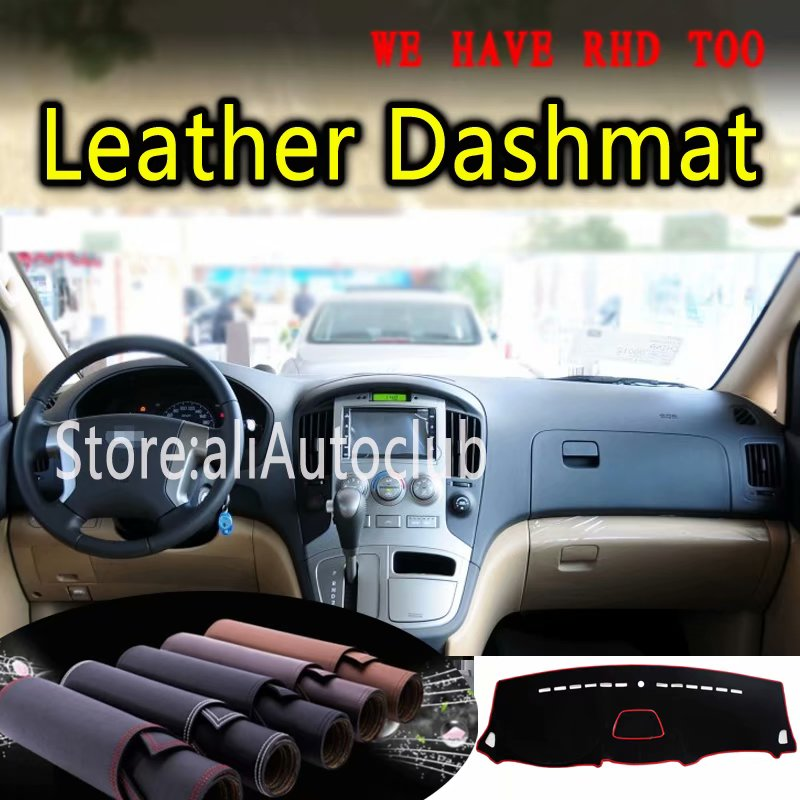 For Hyundai Grand Starex  H-1 I800 ILoad IMax 2008-2017 Leather Dashmat Dashboard Cover Dash SunShade Carpet Custom Car Styling