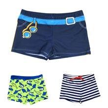 815608a3eb 2018 Boys Beach Shorts Kids swimming trunks children swimsuits Swimwear  baby boy striped Swim Fish Print Bathing Suit 2-8Years