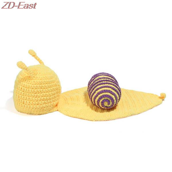 ₪Infantil CAPS Lovely animal Punto de ganchillo del bebé del caracol ...