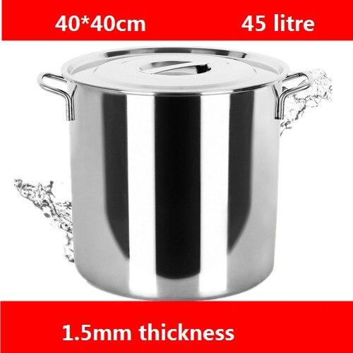 Livraison gratuite 1.5mm en acier inoxydable seau épais avec couvercle pour le stockage d'eau seau barils tambours baril soupe en acier inoxydable