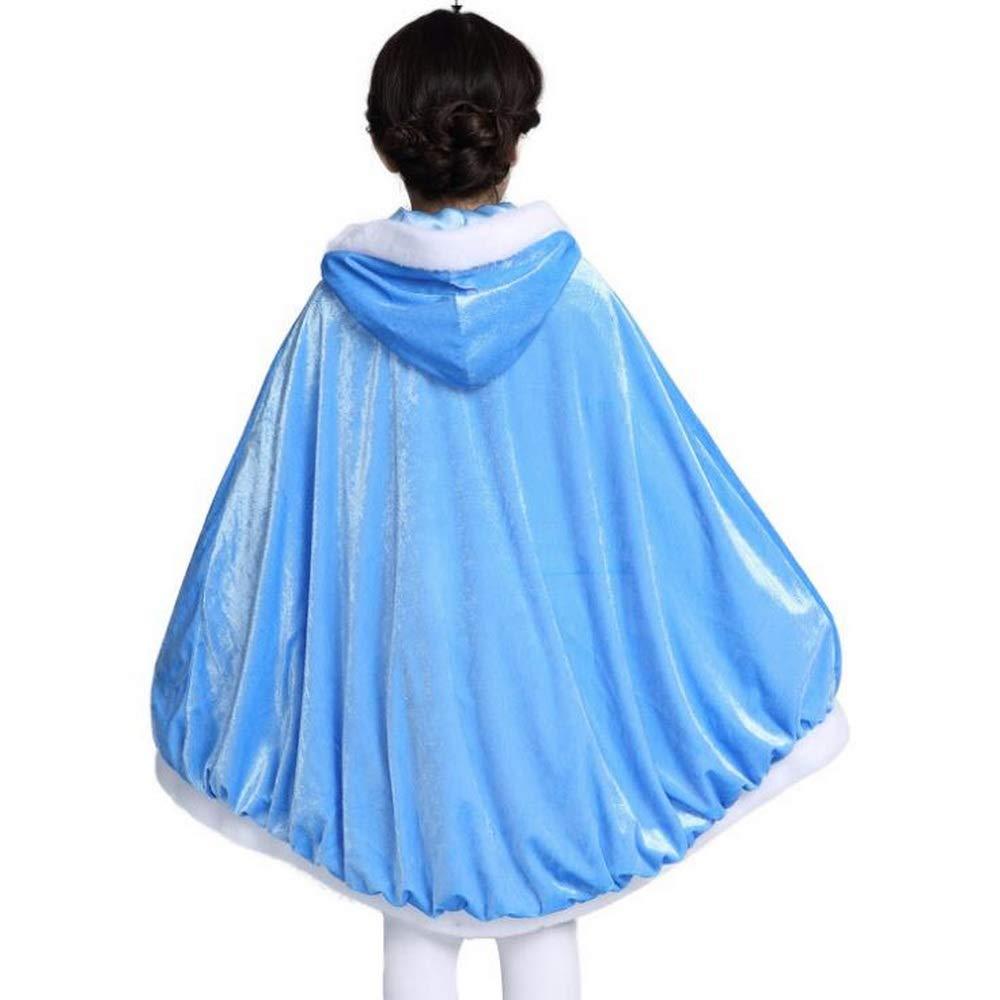Girls Cinderella Cloak Elsa Cape With Gloves Rapunzel Coat Belle Cloak Gloves For Kids Princess Dress Up Accessory Mantle Jacket