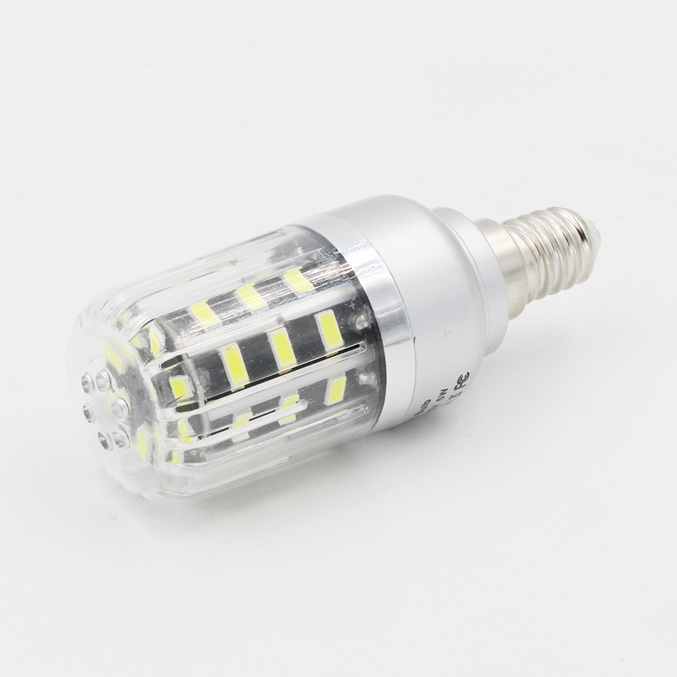 Viewi 5X ampoule led bulbs e 14 e12 e 27 110v 220v bulb light 5W home chandelier lighting 550LM 5736 32 leds energy saving lamp