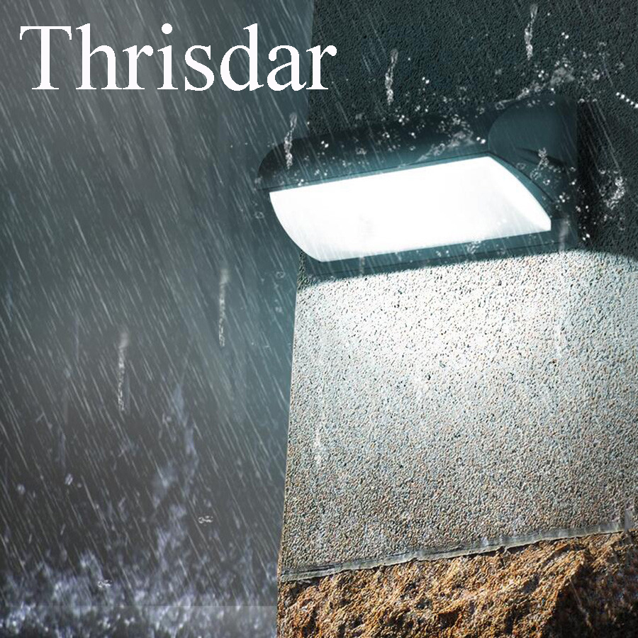 Thrisdar 10W 30W Outdoor Garden Porch Wall Light Patio Courtyard Fence Villa Waterproof Wall Sconce Light AC90 260V