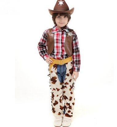 boys cowboy costume performance wear denim costume kids police costumes western cowboy funny halloween cosplay costumes for boy