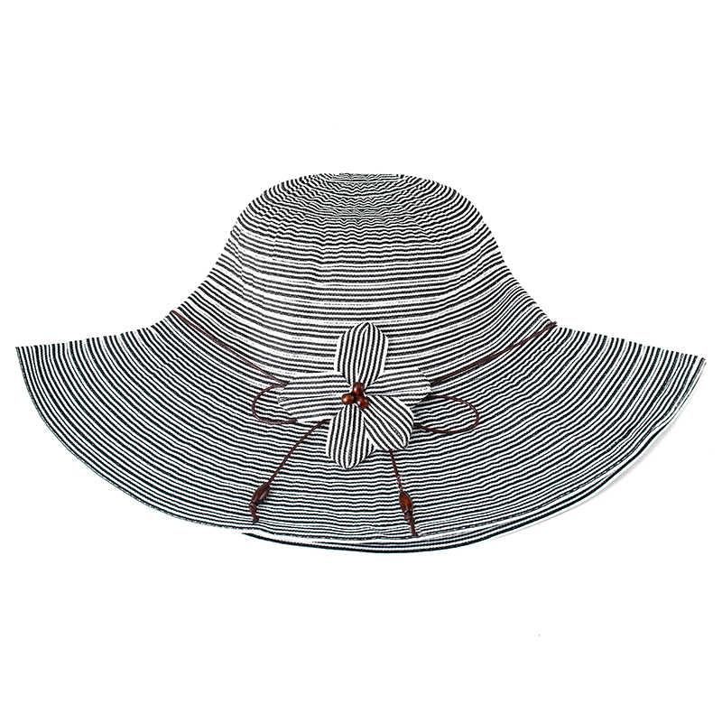 1 шт. женские летние шляпы от солнца цветы и полосы стиль солнцезащитный козырек шляпа с большими головками широкий пляжный навес солнцезащитная Кепка Женская кепка