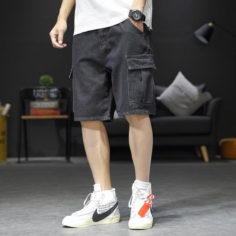 Bene Classico Jeans Shorts Uomini Di Grandi Dimensioni Denim Shorts Per Gli Uomini Di Lunghezza Del Ginocchio Del Denim Di Estate Shorts Per Gli Uomini Una Vasta Selezione Di Colori E Disegni