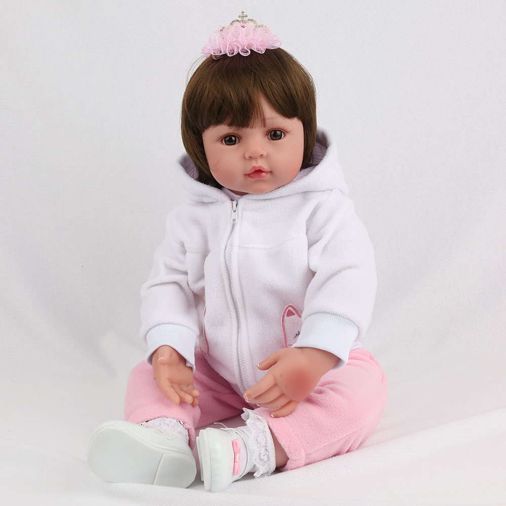 55cm 22 Silicone Reborn Baby Doll Alive Bebe Reborn Soft Cloth Body Realistic Girl NewBorn Baby Child Lifelike Birthday Gift55cm 22 Silicone Reborn Baby Doll Alive Bebe Reborn Soft Cloth Body Realistic Girl NewBorn Baby Child Lifelike Birthday Gift