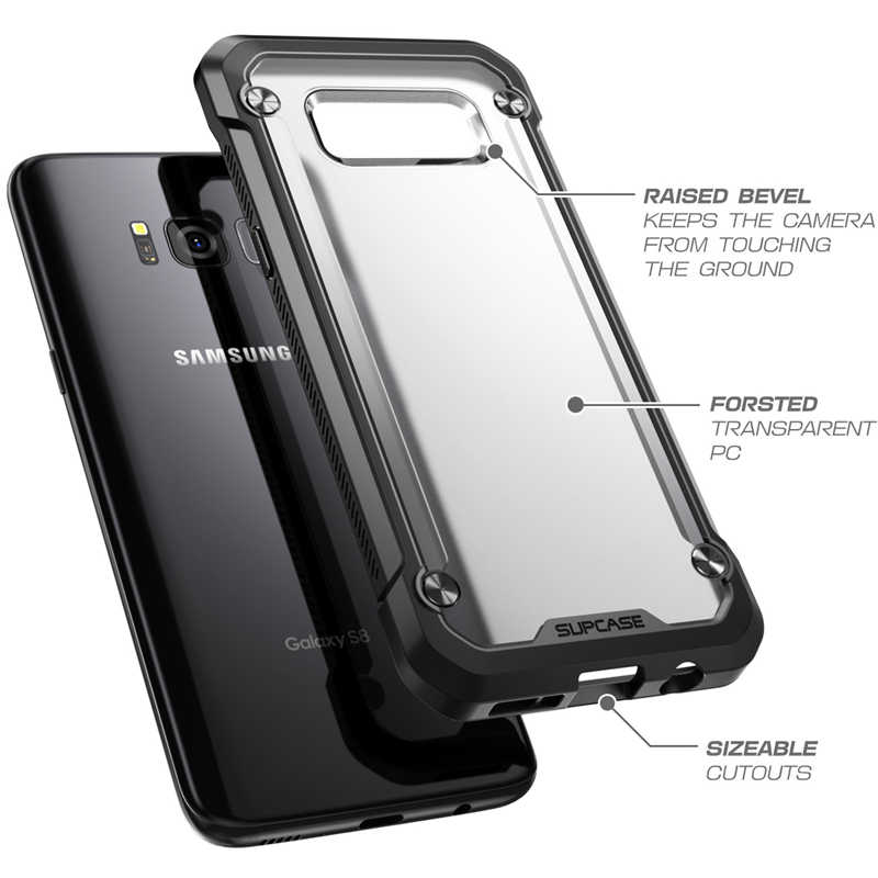 Para Samsung Galaxy Caso 5.8 polegada SUPCASE S8 Besouro Unicórnio UB Series TPU + PC Híbrido Premium Protetora Caso Claro tampa traseira