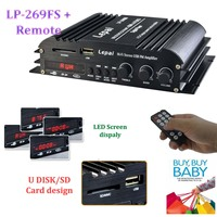 4 Channel 4X45W RMS Output Power Amplifier Wholesale USB SD MMC Card Player Hi Fi FM