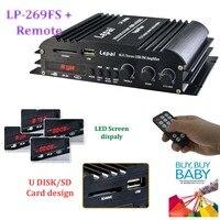4 canales 4X45 W RMS de potencia de salida del amplificador al por mayor USB SD mmc reproductor de Alta Fidelidad de FM estéreo del coche audio