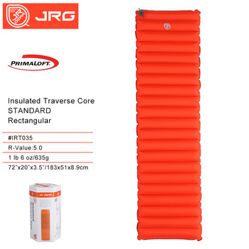 JR Gear R3 0 5 0 Prima Loft światła materac powietrza na zewnątrz odporne na wilgoć nadmuchiwane camping mat z TPU flim rury powietrza łóżko tanie i dobre opinie CN (pochodzenie) Obóz IRT036 TRT035 Zewnętrzna pompa inflator 75D Nylon
