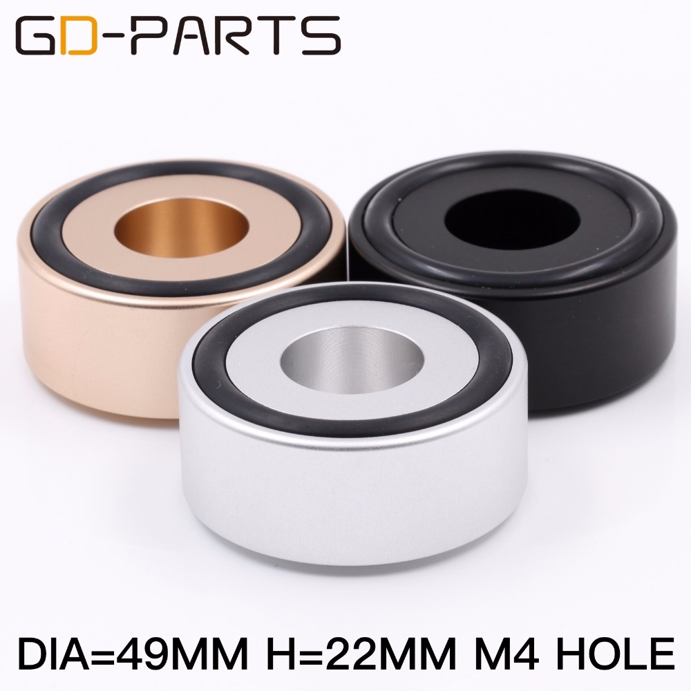 49mm Machined Solid Full Aluminum Hifi Speaker Feet Floor Stand CD Player Spikes Amplifier Machine Feet Turntable Stand
