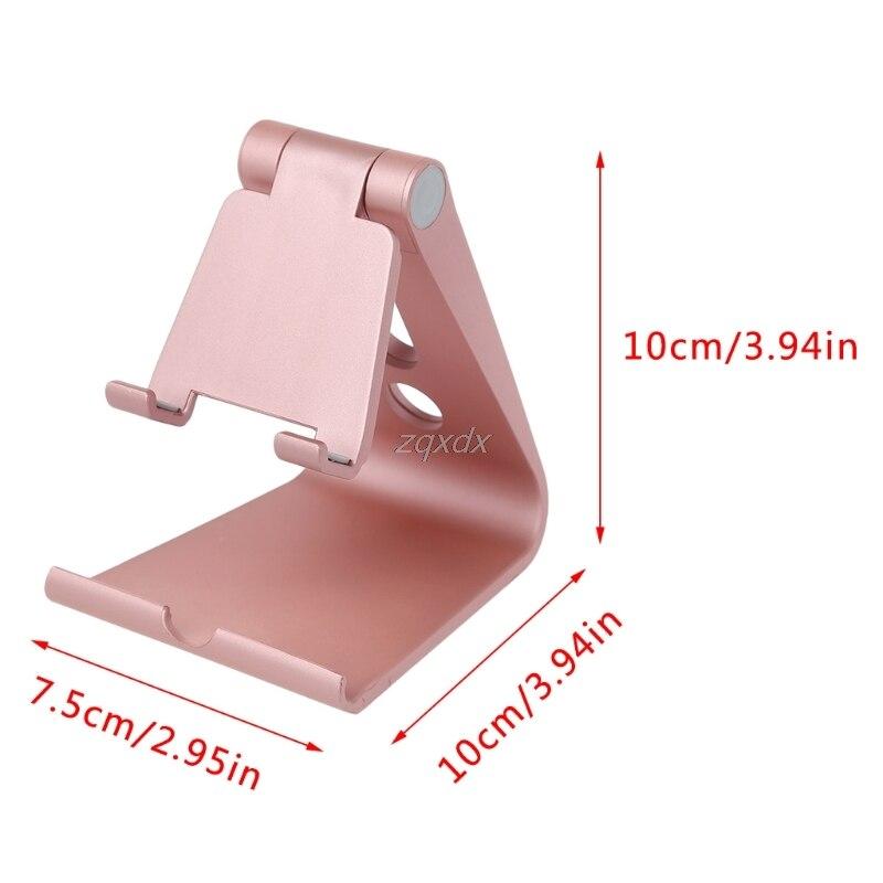 Mini Universal Adjustable Angle Folding Desk Stand Holder For Smart Phone Tablet 5