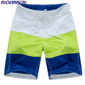 NORMEN Brand Men's Fashion Board Shorts Striped Swimsuit For Mens Shorts Men Swimwear Shorts Brand Clothing Short Pants Big Size