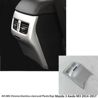 car styling stick garnish cover trim ABS Chrome rear back upside Air condition Outlet Vent frame 1pcs For Mazda 3 Axela M3 2017