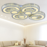 Crystal Modern Led Ceiling Lights For Living Room Bedroom Luminaria Kristal Tavan Aydinlatma Flushmount Ceiling Lighting