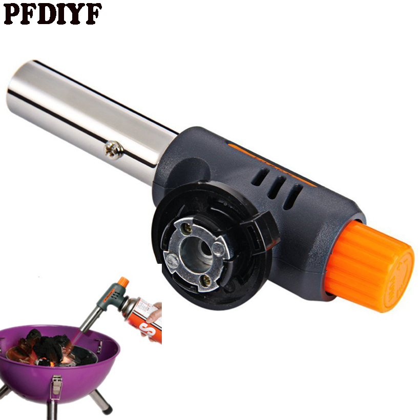 PFDIYF Barbecue Lgniter Gas Stainless Steel+Plastic Lighters Outdoors BBQ Party High Temperature Flamethrower Kitchen Supplies