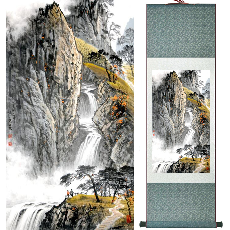 Mountain and River painting Home Office Decoration Chinese scroll painting landscape art painting LTW17111005