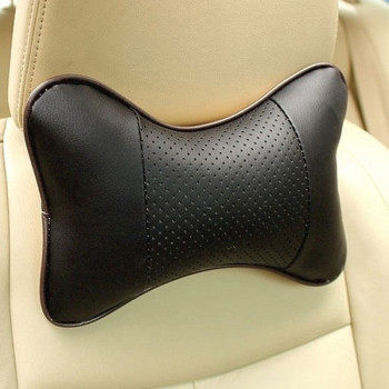 Buy Danny leather car pillow hole-digging car headrest leather auto supplies neck pillow a pair of for only 4.9 USD
