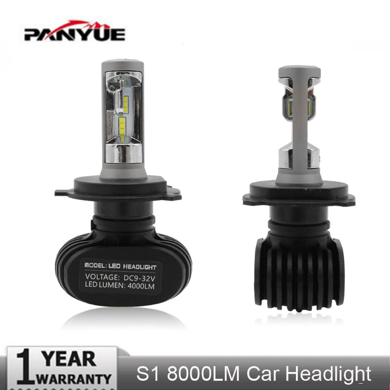 PANYUE Super Bright 50W Auto Led H7 Headlight H11 9005 H4 Led Car Bulb 6500K CSP Chips 8000lm Fanless Fog Lamp All-in-one