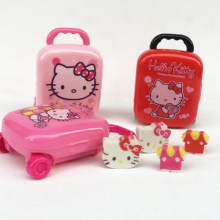 1 box Lovely Hello Kitty Shape Eraser Luggage Case Pencil Erasers Set School Supplies Gifts for Kids Eraser(China)
