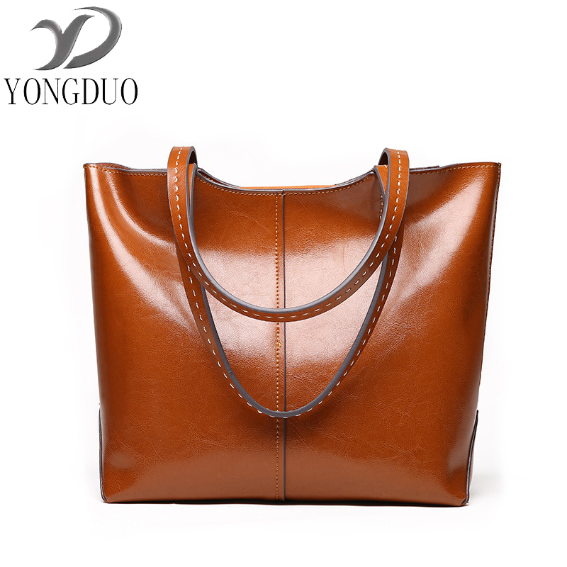 YONGDUOGenuine Leather Bags Ladies Real Leather Bags Women Handbags Casual Tote High Quality Large Capacity Female Fashion bolsa