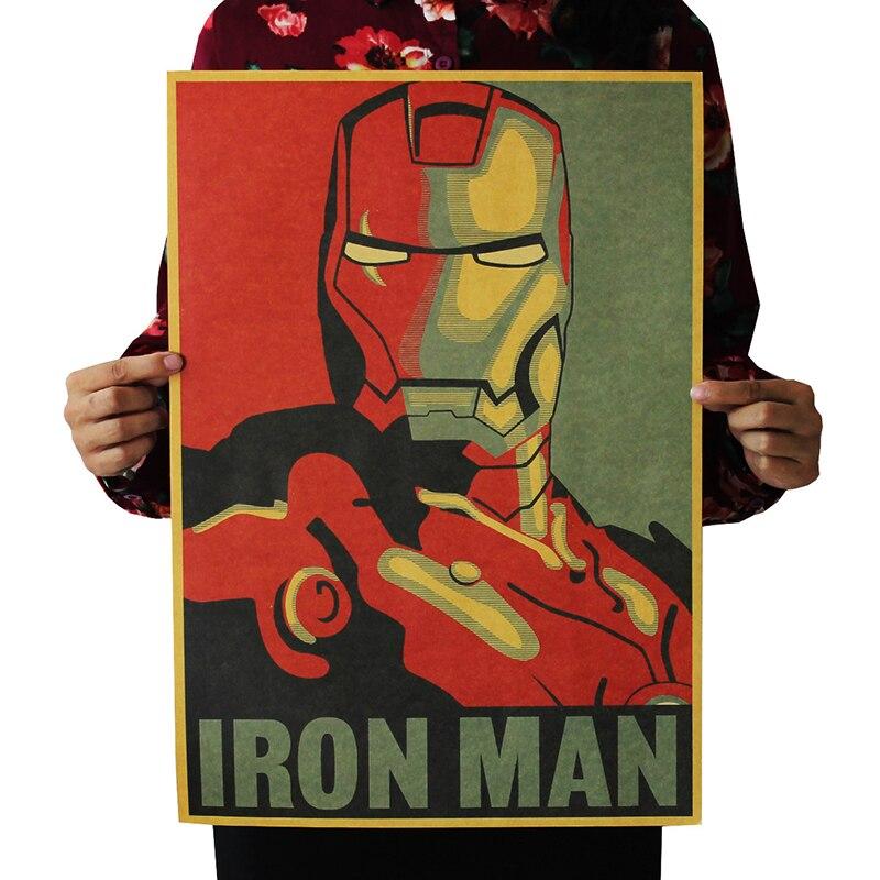 Big Deal 515x36 Cm Kahraman Demir Adam Kaptan Amerika Avengers