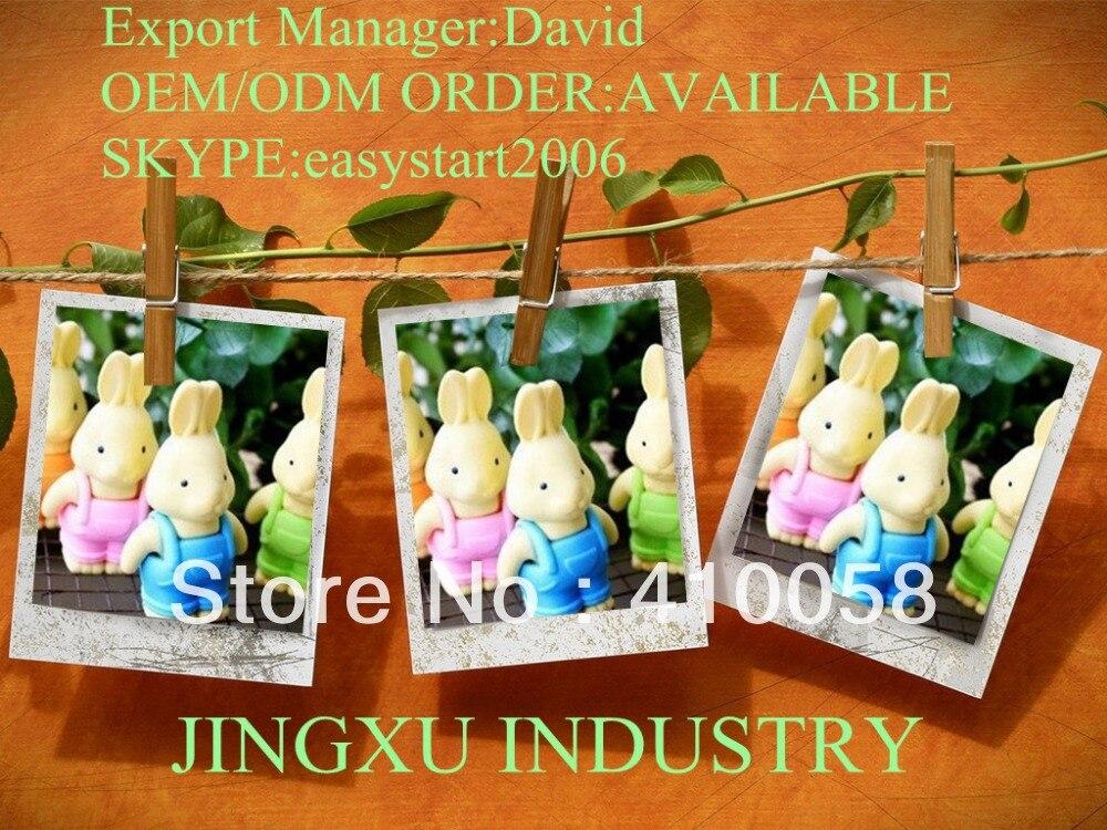 Free Shipping Cute Brave Rabbit  Eraser 50pcs/lot Creative School  Children Stationery Eraser