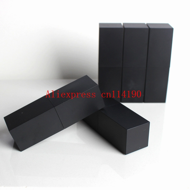 Hot sale empty high grade plastic lipstick tube black outter square shape inner DIY lipstick tube
