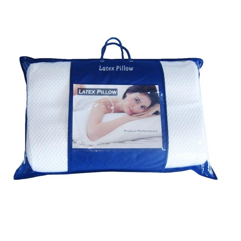 100% Contour oreiller en Latex de Talalay naturel pour le mal de cou, avec housse intérieure en coton et housse en Tencel zippée dans un sac en PVC
