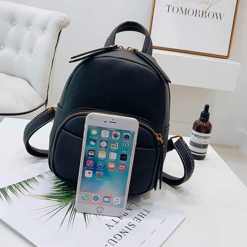 91a12a2baf38 ... LEFTSIDE Women 2018 Cute Leather Backpack For Teenagers Children Mini  Back Pack Girls Kids Small Backpacks
