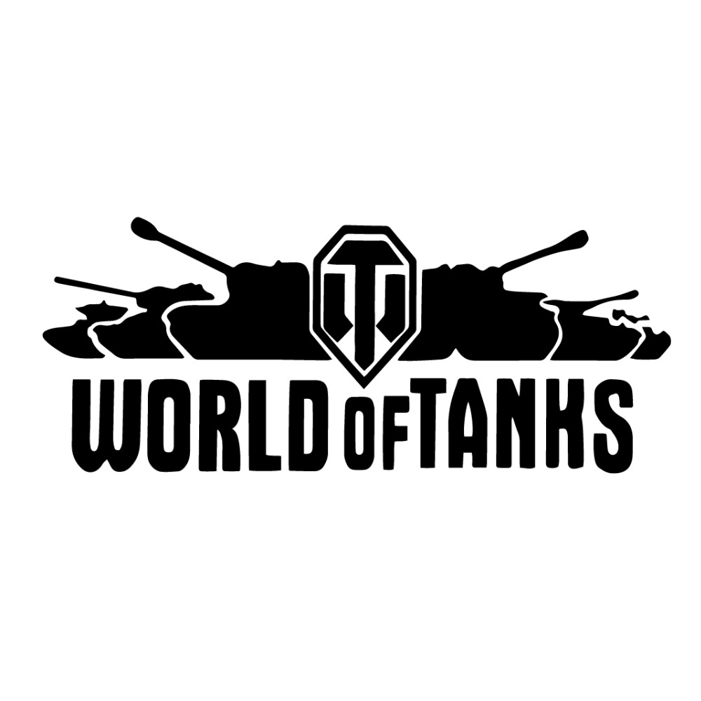 20*8CM Motorcycle Sticker WORLD OF TANKS Interesting Vinyl Decal Car Stickers Off-Road Motorcycle Car Styling
