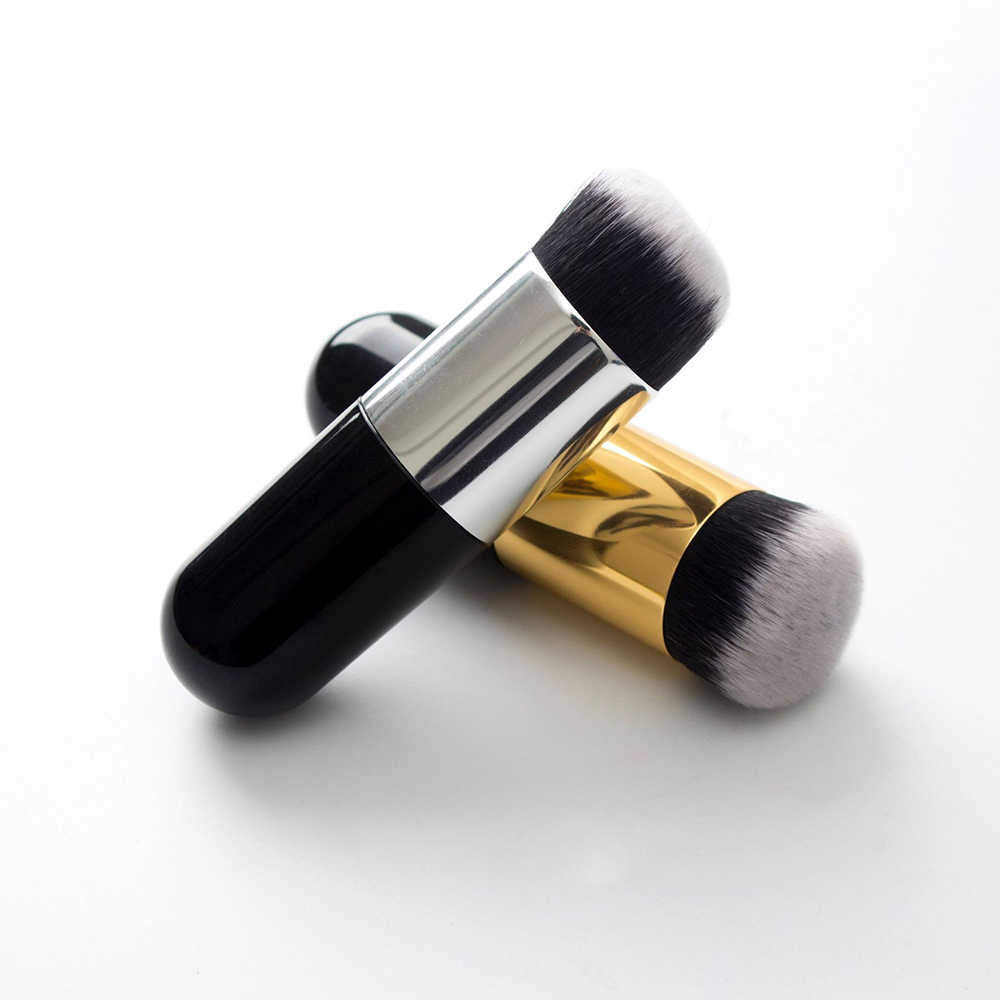 Nieuwe Professionele Make-Up Borstel Chubby Pier Foundation Brush Platte Crème Make-Up Kwasten Professionele Cosmetische Make-up Borstel 2019