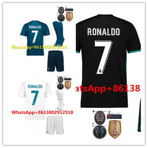 2017 FREE PATCHES 2018 TOP football jerseys QUALIT SHORT REALED MADRIDED  ADULT KIT SOCCER JERSEY 17 18 HOME AWAY 3RD MEN SHIRT. 59% of 105 recommend e7f8cf684d849