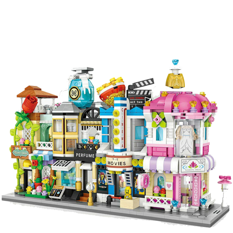 LOZ Building Blocks Model City Series Mini Street Model Store Shop Decor Shops Educational Toys for Children 1636 loz diamond block street mini nano building blocks toys for children shop model mobile phone shop mini city bricks building 9036