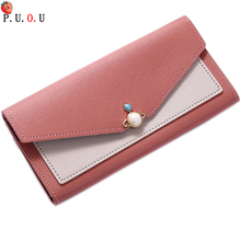 Women Wallet Lady Purses Brand Long Girls Pearl Wallets Cards ID Holder Clutch Moneybags Clips Female Envelope Bags Pocket Bags