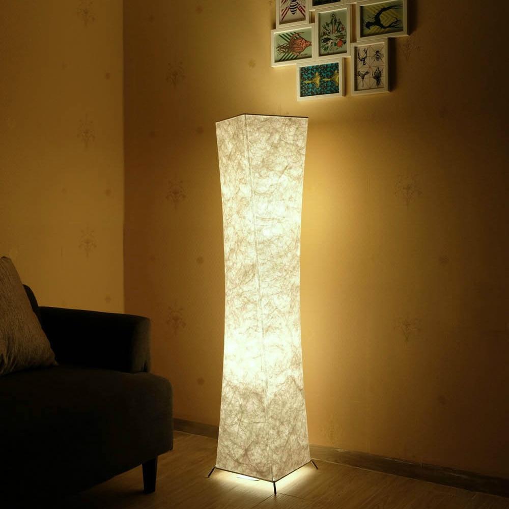 LED Floor Lamp Softlighting Nordic Minimalist Design Fabric Shade torso standing lamps for Living Room Bedroom Warm Atmosphere-in Floor Lamps from Lights & Lighting    1