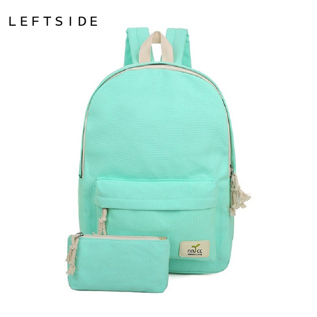 Women Backpack Canvas Feminine Backpacks For High School S Quality Cute Rucksack Female Bags