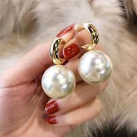 Persönlichkeit Simulierte Perle Ohrringe Für Frauen Weiß Rot Big Ball Ohrring Modeschmuck Bijoux